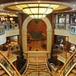 Detalhe do luxo encontrado a bordo do navio