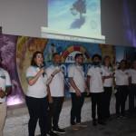 Equipe da Pratagy Beach durante a apresentação do complexo aquático.