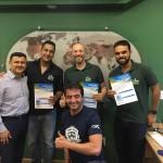 Fabiano Dias, da Copa Airlines, e Christiano Souza, executivo de Vendas da Trend visitam Agência Travelmate, em Belo Horizonte
