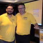 Fabrizio Cavallini, gerente Nacional de Vendas Canal Multimarcas CVC, e Douglas Silva, gerente de Operações da CVC Multimarcas