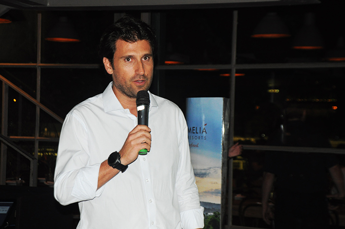 Fernando Gagliardi, da Meliá, em evento de capacitação no Rio