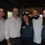 Fernando Nobre, Mauricio Alexandre e Fabiano Araujo, da RCA, com  Cristina Muniz  e Daniela Bergamini, do SeaWorld