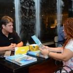 Flaviano Simionato, do Ocean Palace, e Vanessa Eker, da A La Turca Travel