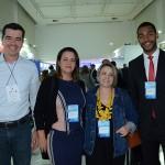 Giorgio Souza e Vanessa Falk, do Joinville CVB, Cristine Fabbris, do Espaço Positivo, e Juliano Braga, do M&E