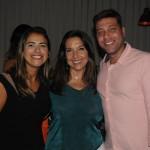 Giselle Campos, da Trend, Adriana Machion, da Meliá, e Flavio Valle, da Via Capi