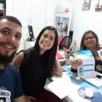 Gustavo Sena, executivo de Vendas da Trend e Isa Menezes, da Iberostar visitam a Agência Francie Viagens, em Salvador