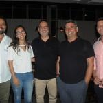 Leonardo Calvano, da Visual, Taiane Bastos, da Trend, Marcos Bastos, da CVC, e Fernando  Zavallo e Flavio Valle, da Via Capi