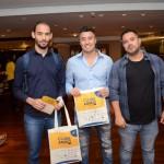 Magdiel Claudino e Marcelo Hara, da Aviva Prime, e Josias Saucedo, DRTX Travel
