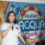Mariana Mello, da Pratagy Beach, apresentando a nova atração