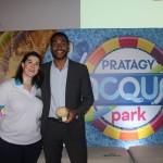 Mariana Mello, da Pratagy Beach, e Juliano Braga, do M&E