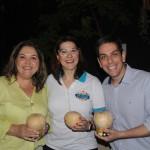 Mariana Mello, da Pratagy, entre Fernanda Freire e Cristiano Placeres da CVC Corp