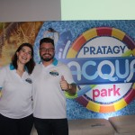 Mariana Mello e Roberto Afarelli, do Pratagy Beach