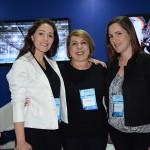 Marina Santos, Jeane Chadi e Claudia Ventura, do Expo Center Norte