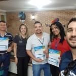 Michelle Oliveira, do Meliá e Wilter Furtado, Executivo de Vendas da Trend visitam a Agência Flytour em Ribeirão Preto