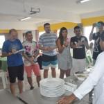 Negralinda ensinou aos participantes do fam a fazerem o famoso pastel de Sururu