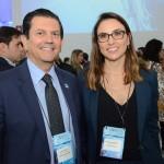 Otavio Leite, secretário de Turismo do Rio de Janeiro, e Milena Palumbo, da GL Events