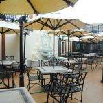 Parte externa do restaurante exclusivo para as cabines mais luxuosas