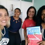Pryscilla di Masi, executiva de Vendas da Trend e Luciana Longo, da Avianca, visitam a Agência Zurich Viagens, em São Paulo