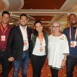 Reginaldo Silva, Eduardo Senra, Alessandra Feola e Fernando Luz, da Discover, com Dragana Prodanovic, da Cunard