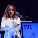 Roberta Yoshida, do Grupo Radar, durante a abertura do ESFE