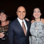 Vania Fazulo, da High Light, Nelson Oliveira, da Alitalia, e Alexandra Coelho, da Avianca