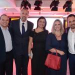 Vicente Brasil, da CVC Corp, Gustavo Esusy, Luciana Longo e Nissim Jabiles, da Avianca, e Lucimar Reis, da CVC Corp