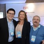 Willians Lopes, Amanda Savoia, da GL Events, e Armando Mello, da Ubrafe