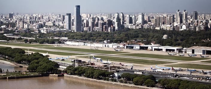 Aeroparque, localizado em Buenos Aires.