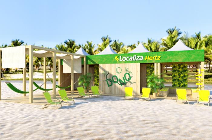 Lounge da Localiza que ficará em Porto de Galinhas