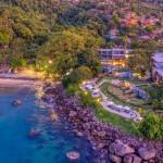 Vista aérea do resort