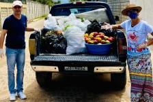 La Torre doa duas toneladas de alimentos para asilos, aldeias e famílias de baixa renda