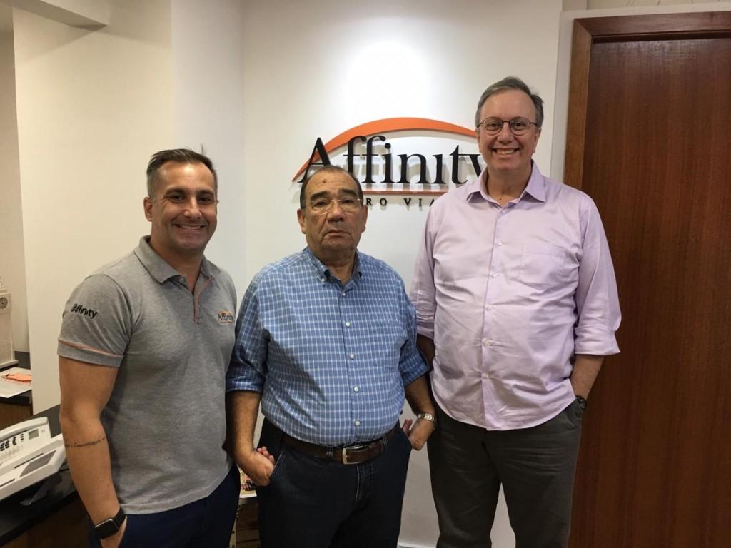 Alexandre Lança, diretor de Marketing e Eventos_ Marilberto França, CEO_ e José Carlos Menezes, diretor geral da Affinity