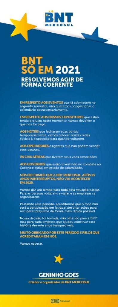 BNT Cancelada