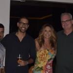 Carlos Eduardo e Daian Silva, da Infinitas Travel; Christiane Cunha e Gustavo Luck, da Luck Receptivos