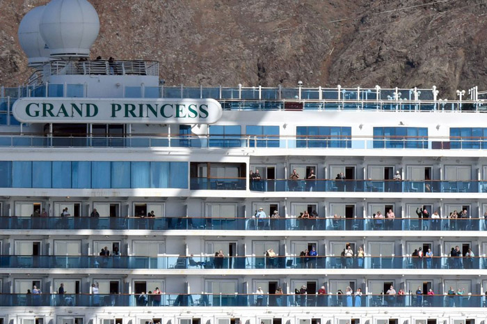 Chegada do Grand Princess ao porto