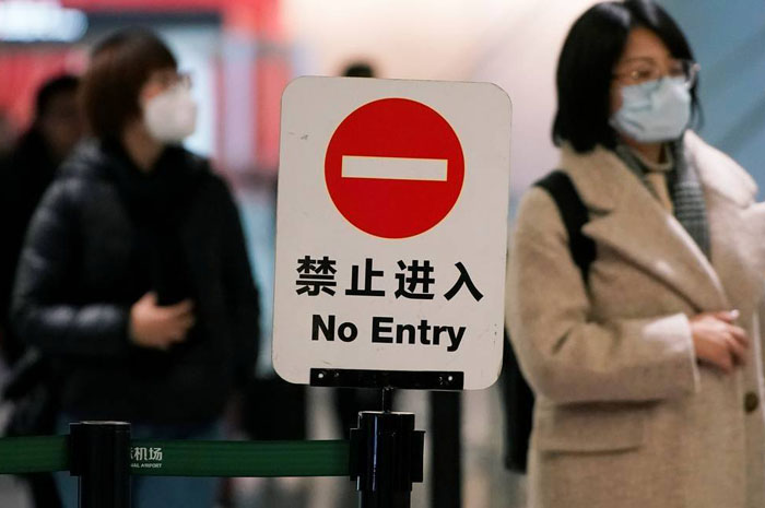 China suspende a entrada de estrangeiros a partir de sábado (Foto Aly Song Reuters)