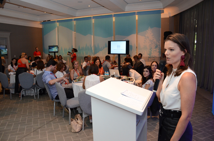 Christina Gläser, diretora do escritório de Turismo da Suíça no Brasil abriu oficialmente o evento.