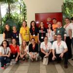 Equipe do Escritório de Turismo da Suíça com parceiros participantes do evento