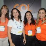 Danimar Cosendey, Rosana Carvalho, Rosana Fernandes e Dayana Abrantes, da Gol