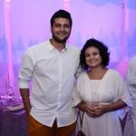Dario Espinoza, da Traveller Made, e Lara Matos, da Travel Place