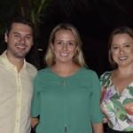 Diego Soares e Tatiana Soares da FRT Operadora; e Luciene Xavier, da Iberostar