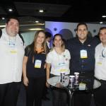 Edy Santos, da Abretur, Jéssica Moreira, da Travel Ace, Kalyne Luz e Julio Sousa, da RCA, e Diego Landim, da Abreutur