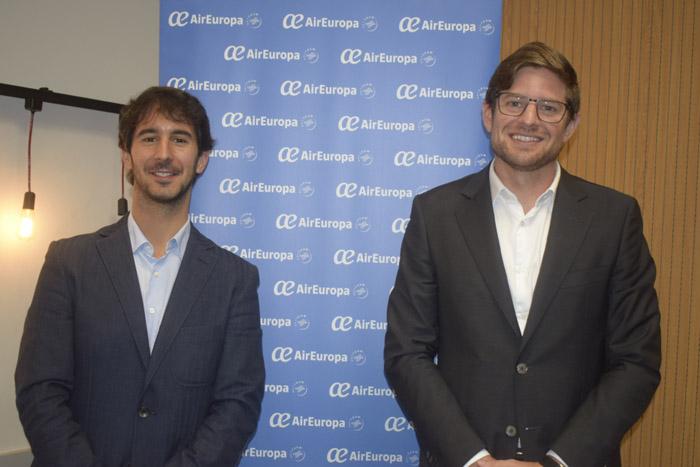 João Pita, diretor de Negócios Aéreos do GRU Airport, e Gonzalo Romero, diretor da Air Europa no Brasil