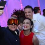 Josef Vielhuber, da Swiss Deluxe Hotels, Fernanda Maldonado e Fabien Clerc, do Turismo da Suiça