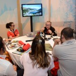 Josef Vielhuber, da Swiss Deluxe Hotels e Fernanda Maldonado apresentam as novidades do turismo da Suíça