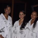 Leandra, Nagia e Elaine, massagistas do SPA Ibesrostar
