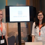 Louise Rios e Heloísa Kasahaya, da Swiss Deluxe Hotels