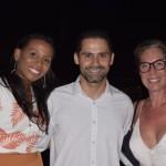 Luciana Ramos e Bruno Fernandes, da Iberostar; e Bárbara Ronchi, da Journeys
