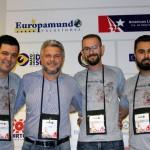 Luciano Bonfim, Rafael Turra e Diego Trapel, da Vital Card ao lado de Marcelo Freitas, da America Life Seguros