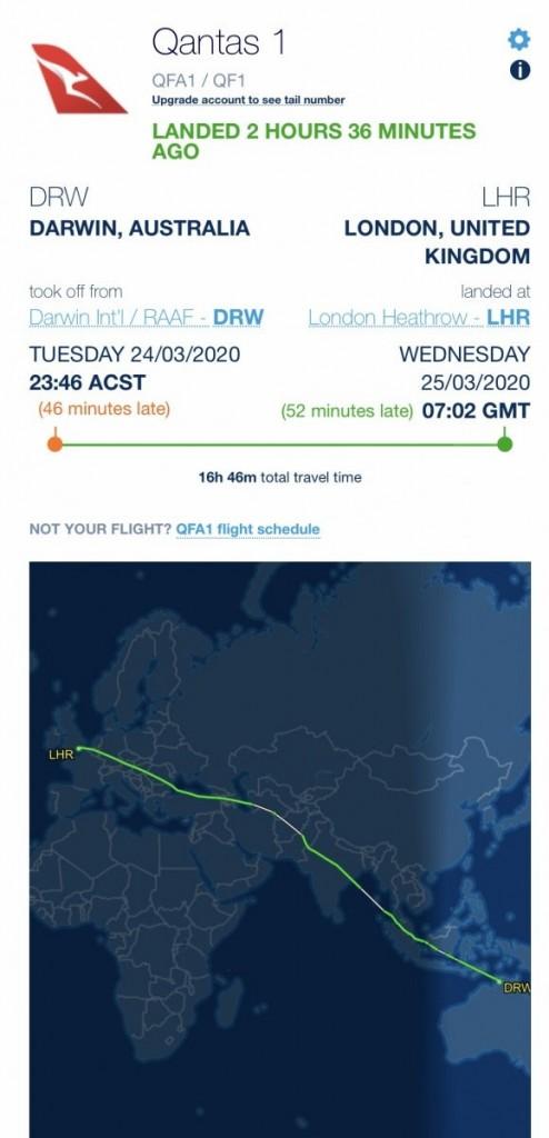 Mapa de voo (Fonte: fonte FlyAware)